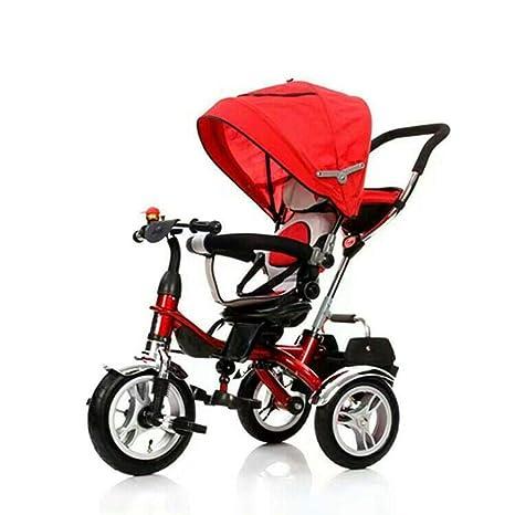 Ambiguity Sillas de Paseo,del Triciclo bebé Bicicleta Cochecito de los niños Silla giratoria