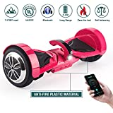 "Koowheel Off Road Hoverboard 7.5"" All Terrain Hoverboard Bluetooth Speaker LED Lights,UL2272 Certified Two Wheel Self Balancing Scooter Adults Kids,App Enabled(12Km/h 220lbs Max) Pink"