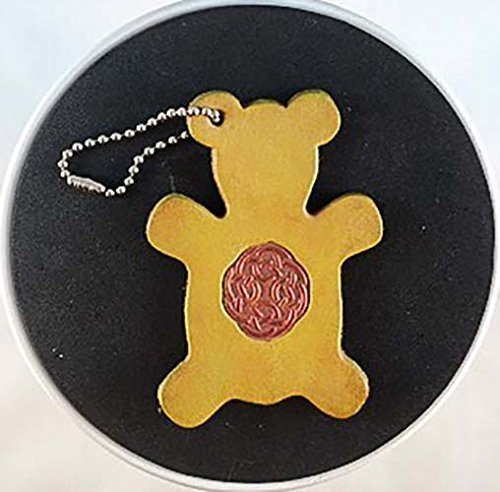 [Teddy Bear Celtic Circle Leather Ornament] (Costume Rings Dublin)