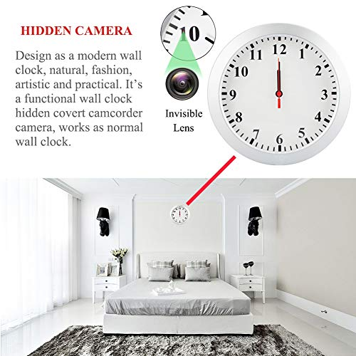 MINGYY 1080P WiFi Camera Wall Clock Motion Detection Video Camera Remote View Camcorder Baby Pet Nanny Monitor Cameras for Home Surveillance Security