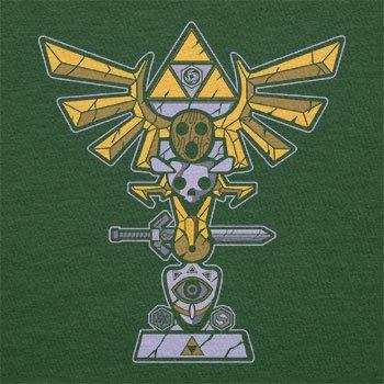 TEXLAB - Triforce Totem - Herren T-Shirt, Größe M, flaschengrün