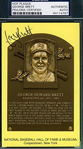 GEORGE BRETT PSA DNA Coa Autograph Gold HOF Plaque Hand Signed Authentic