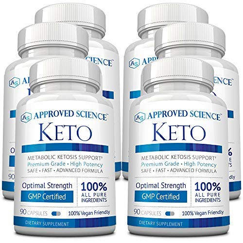 Approved Science® Keto: Pure Exogenous 4 Ketone Salts (Calcium, Sodium, Magnesium and Potassium) and MCT Oil to Boost Ketosis and Burn Fat. 3 Bottles by Approved Science (Image #4)