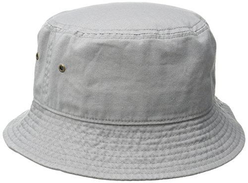 Short Brim Visor Cotton Bucket Sun Hat Stone Large/X-Large