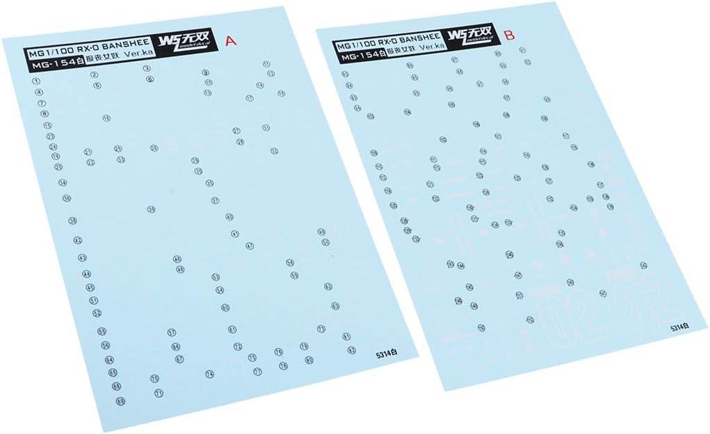 as described Baoblaze Water Slide Decal Paper For Gundam Model Action Model Action Decals Model 1