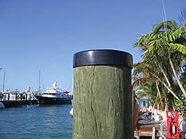 "Marine Dock 11/"" Piling Cone Flat Cap Boat Pylon Edge Post Head White Cover"