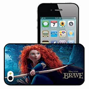 Personalized iPhone 4 4S Cell phone Case/Cover Skin Disney pixar brave movies Black