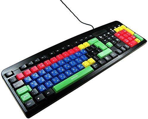 Teclado USB y PS2 Qwerty Mayúscula & Minúscula Color para Los ...