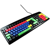 USB & PS2 Qwerty Keyboard Uppercase & Lowercase Coloured for Children / Great for Kids in Schools And Nurseries / Comfortable & Waterproof / iCHOOSE