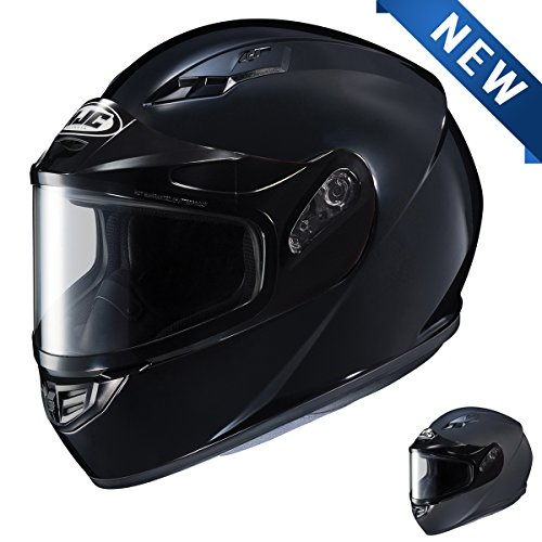 HJC CS-R3 SN Black Snowmobile Helmet with Dual Lens shield - Large