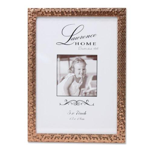 Lawrence Frames Rose Shimmer Metal Picture Frame, 5 by 7-Inc