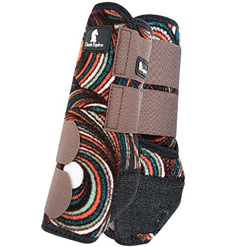 Classic Equine NEW Chocolate Swirl Legacy Boots Horse Sports SMB Medicine Boots Front Small