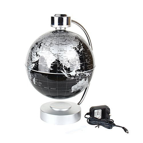 cr atif globe terrestre lumineux magn tique levitation globe lamp de lumi res led pour. Black Bedroom Furniture Sets. Home Design Ideas