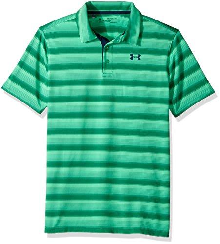 - Under Armour Boys' Playoff Stripe Polo Shirt,Jade (317)/Academy, Youth Medium
