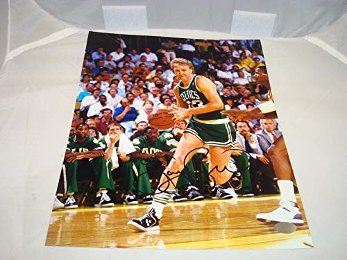 Signed Bird Photo - 8x10 Memories COA 1A - Mounted Memories Certified - Autographed NBA Photos