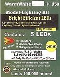 trains software - Evan Designs U50 5 mm Bright Warm White LED, Pkg=5 by