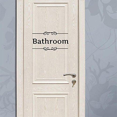 C pioneer removable vintage wall stickers bathroom decor toilet door sign vinyl art decals - Pioneering bathroom designs ...