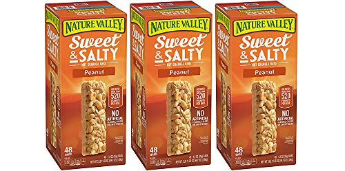 Nature Valley Sweet and Salty Granola Bars Peanut dipped in Peanut Butter Coating, 48 Bars (3 Boxes) by Nature Valley (Image #1)