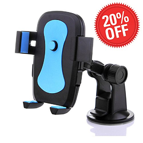 Car Phone Mount Car Cell Phone Holder Phone Holder for Smartphones – Blue and Black Color