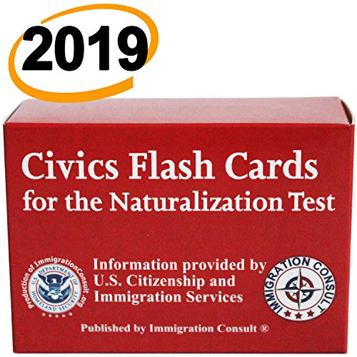 US Citizenship test civics flash cards for the naturalization exam with all official 100 USCIS questions and answers. Illustrated Pocket Box set ... American Civics (English and Spanish Edition) ()