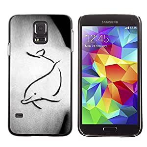 Be Good Phone Accessory // Dura Cáscara cubierta Protectora Caso Carcasa Funda de Protección para Samsung Galaxy S5 SM-G900 // Tattoo Body Art Painting Simple
