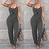 ABASSKY Jumpsuit for Women, Casual Clubwear Strappy Striped...