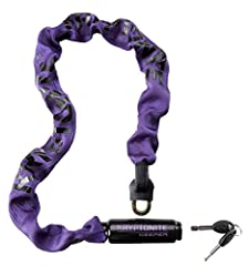 Now available in 3 new colors: grey, red, & purple. 7mm four-sided chain links made from3T MANGANESE STEEL. Patent-pendingEND LINK DESIGNsecures chain to hardened deadbolt eliminating critical vulnerability. HardenedDEADBOLT DEDSIGNp...