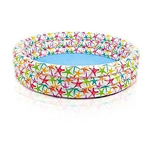 Intex Color Splash 168X40 Piscina 3 Anelli Fantasia Stella Marina, Trasparente/Blu, 168 x 38 cm, 56440 12 spesavip