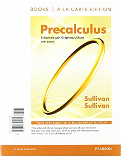 Precalculus enhanced with graphing utilities books a la carte precalculus enhanced with graphing utilities books a la carte edition plus new mymathlab with pearson etext access card package 6th edition 6th fandeluxe Image collections