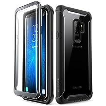 i-BLASON Samsung Galaxy S9+ Plus Caso, [Ares] Full-Body Rugged Clear Bumper Funda con Protector De visualización Integrado para Samsung Galaxy S9+ Plus 2018liberación (Negro)