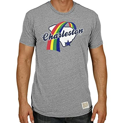 Original Retro Brand Minor League Baseball Charleston Rainbows Men s  T-Shirt f90a2e801