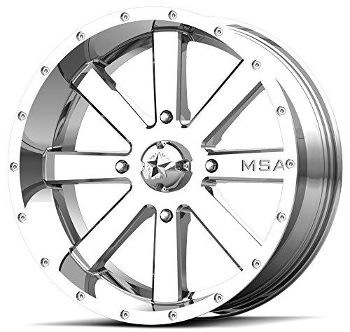 4x137 Bolt Pattern 10mmx1.25 Lug Kit 9 Items Bundle MSA Chrome Flash 18 ATV Wheels 32 Moto MTC Tires