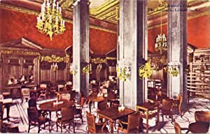 1910 Vintage Postcard - Gentlemen's Cafe - The Seelbach Hotel - Louisville Kentucky