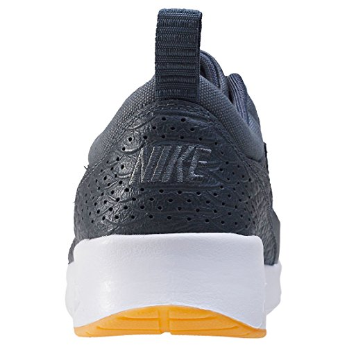 Nike Damen Air Max Thea Premium Sneaker Dunkelgrau (Dark Grey/Gum Yellow/White/Dark Grey)