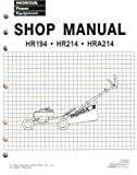 61VA302 Honda HR194 HR214 HRA194 And HRA214 Lawn Mower Shop Manual