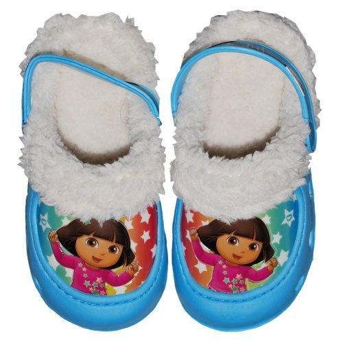 Girls 2t 4t Dora - Nickelodeon Girls 2T-4T Dora Lined Clog (5/6, Light Blue)