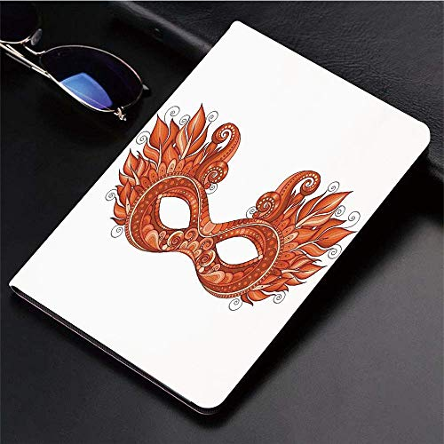 Compatible with 3D Printed iPad 9.7 Case,Masquerade,Ornate Mardi Gras Carnival Mask with Decorative Fe,Lightweight Anti-Scratch Shell Auto Sleep/Wake, Back Protector Cover iPad 9.7