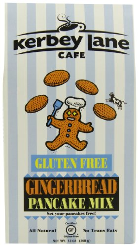 (Kerbey Lane Cafe Gluten Free Pancake Mix, Gingerbread, 13-Ounce )