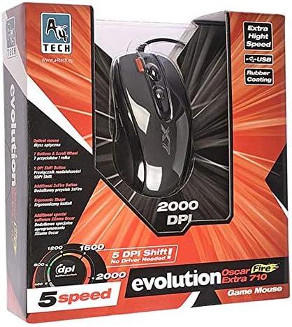 A4 Tech Souris Gaming X710 2000 DPI USB + X7 A4TMYS46028 Noir