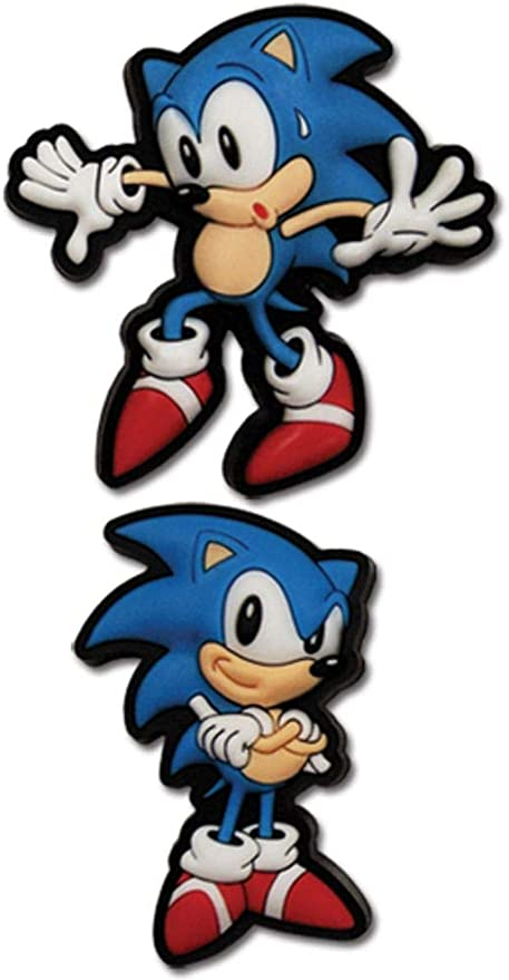 Amazon Com Great Eastern Entertainment Sonic The Hedgehog Sneak Pose Sonic Anime Pins Toys Games