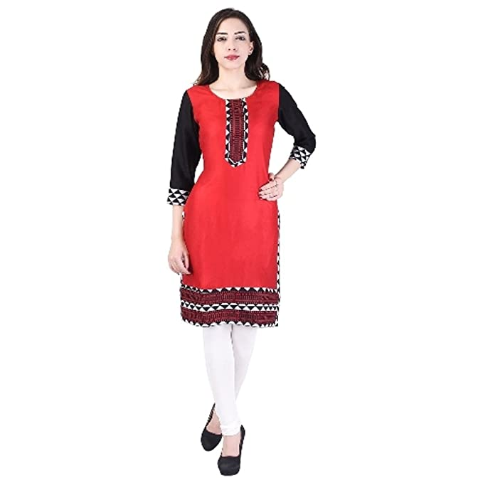 5947809843e Image Unavailable. Image not available for. Color  Vihaan Impex Indian  Kurtis for Women Kurti Kurtas for Women Bust Size 40 Inches ...