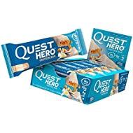 Quest Nutrition Vanilla Caramel Hero Protein Bar, Low Carb, Gluten Free, Soy Free, 10 Count