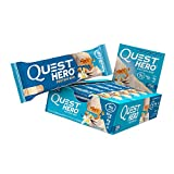 quest vanilla protein - Quest Nutrition Hero Protein Bar, Vanilla Caramel, 16g Protein, 10g Fiber, 4g Net Carbs, 180 Cals, Low Carb, Gluten Free, Soy Free, 2.12oz Bar, 10 Count