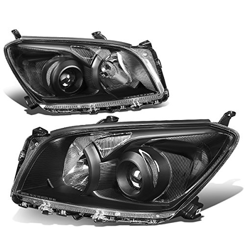 Toyota Clear Corners - For Toyota Rav4 XA30 Pair of Black Housing Clear Corner OEM UPGRADE Projector Headlight Lamp