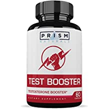 Testosterone Booster for Men :: Promotes Stamina, Energy, and Strength :: Helps Burn Fat :: Natural Ingredients :: 60 Capsules Per Bottle :: Prism Naturals