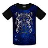 Kids/Youth Africa Wild Animal Hippopotamus T-Shirts Short Sleeve Children Tees