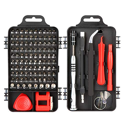 110 in 1 Precise Screwdriver Set with Slotted, Phillips Screwdriver Bits Non-Slip Magnetic Electronics Tool Kit for Cell Phone Watch Laptop Magnetic Tools Set
