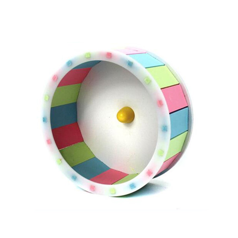 JOLIN'S SHOP Hamster Silent Exercise Wheel Jogging Running Toy For Mouse Guinea Pig Small Animals Play Toys