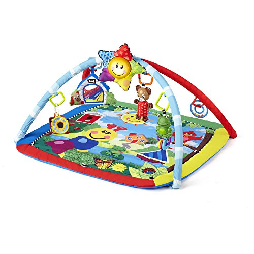 Baby Einstein Caterpillar & Friends Play Gym with Lights and Melodies, Ages Newborn + (Floor Mat For Babies To Play On)