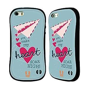 Head Case Designs Soar High Lovey Dovey Mishmash Hybrid Gel Back Case for Apple iPhone 5 5s
